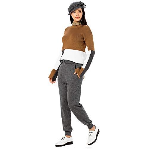 Dsw021 Gris En Pantalon Vque Femme Laine wvgIvZXq