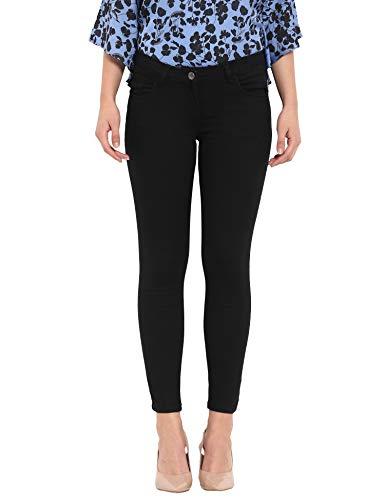 Park Avenue Woman Black Super Slim Fit Cotton Blend Jeans