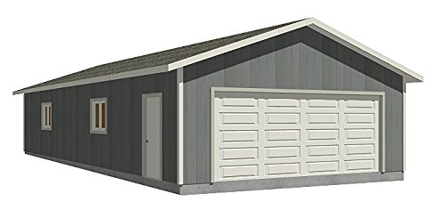 Entry Two Car Garage With Rear Shop - Plan 1152-3 ()