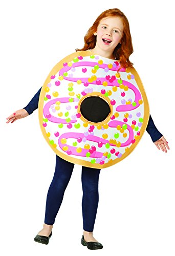 Rasta Imposta White Frosted Donut Costume, Child 7-10 ()