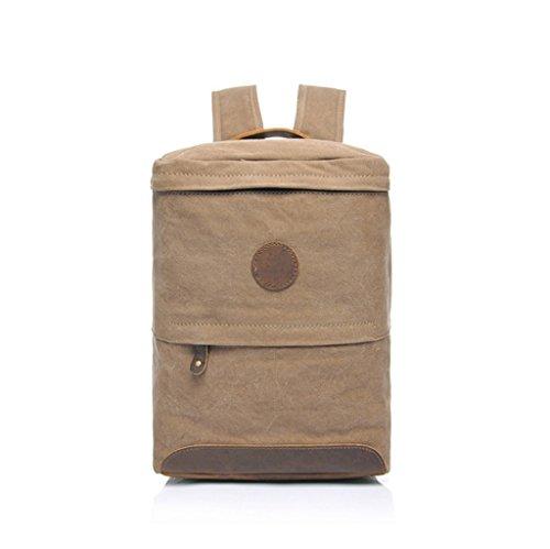 Sucastle Retro Tasche lässig Tasche Schultertasche Tragetasche Sucastle Farbe: Khaki Größe: 30x24x16cm