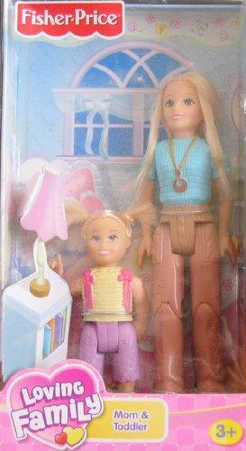 Loving Family Dollhouse Figures: Mom & Toddler