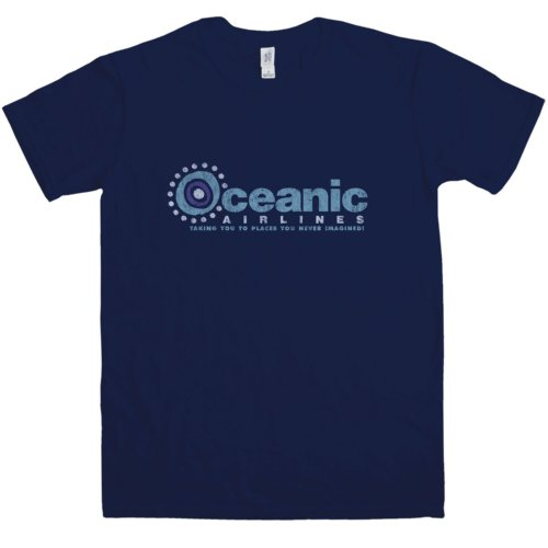Oceanic Airlines - Mens T Shirt - Oceanic Airlines - Navy - Large