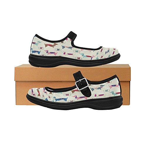 Shoes InterestPrint Womens Walking Comfort Jane Mary Jane InterestPrint Casual Flats Mary Womens Comfort Flats nwqSwROpx