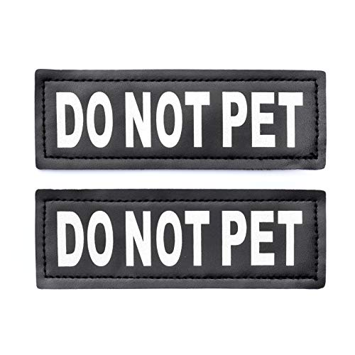 Not Harness Pet - Do Not Pet Patch - Attachable Patches with Hook Backing for Dog Harness Vest or Collar - Service Dog, Emotional Support, In Training, Service Dog In Training, and Therapy Dog Patches, by Industrial Pu