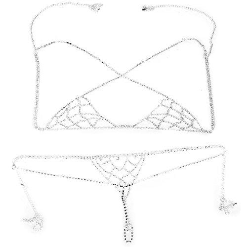 Bikini Jewelry Rhinestone Lingerie Halter