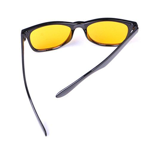 e1e35dbcf9dd41 Runrain Unisexe Verres jaunes Lunettes de vision nocturne Lunettes de  conduite  Amazon.fr  Hygiène et Soins du corps