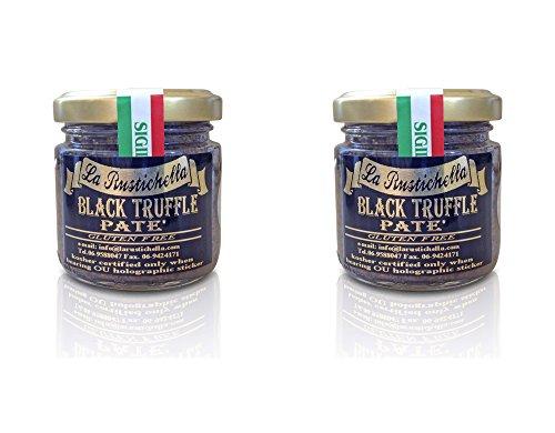 La Rustichella Black Truffle Pate Gluten Free Certified Kosher - 3.2 oz - 2 Pack - Certified Kosher OU
