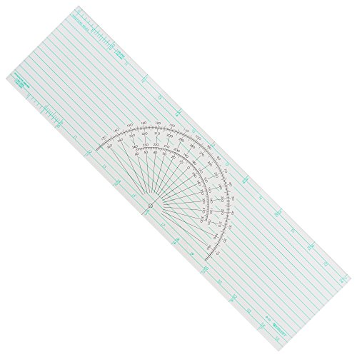 Westcott Course Protractor Plotter Ruler, 15