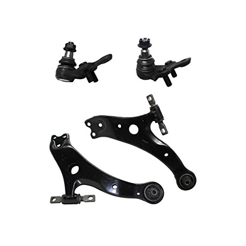 Both (2) Front Lower Control Arm Assembly + Both (2) Front Lower Ball Joints for 02-03 Lexus ES300 - [04-06 ES330/RX330] - 07-09 RX350 - [06-08 RX400h] - 02-06 Camry - 04-08 Solara - 04-07 Highlander ()