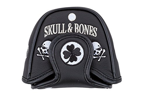 Headcover Putter Ball 2 Odyssey (Skull Bones Mallet Putter Covers - Replacement Putter Headcover - Compatible with Odyssey 2-Ball - Scotty Cameron, Taylormade and Ping Putters (Skull&Bones))