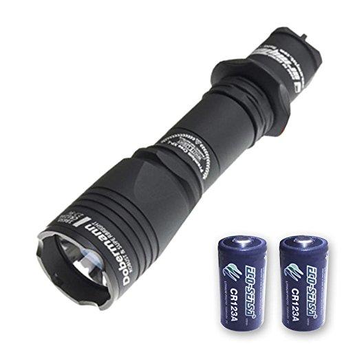 Armytek Dobermann Pro v3 XHP35 Hi Flashlight -1400 Lumens - WARM TInt w/2x FREE Eco-Sensa Premium CR123A Batteries