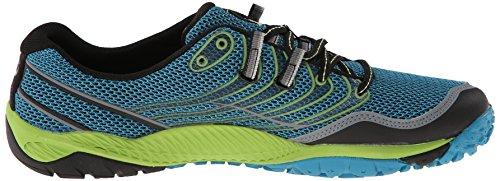 Merrell J03907 - Zapatos polideportivas al aire libre para hombre Blau (Algiers Blue/Lime Green)