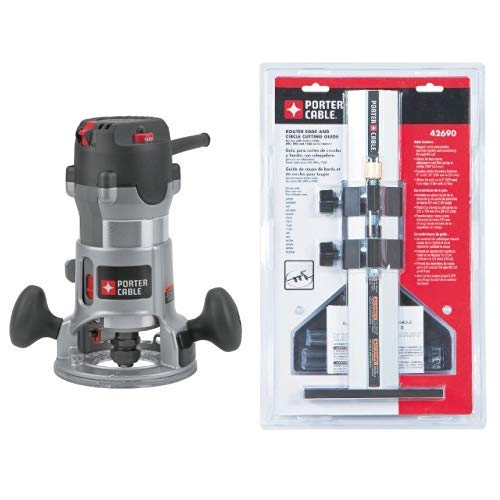 PORTER-CABLE 892 2-1/4-Horsepower Router with 42690 Edge Guide (for Models 100, 690, 691, 693, 891, 892, 893 Routers)