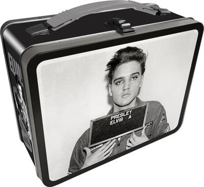 Elvis Presley Mug Shot Embossed Retro Metal Lunch Box ()