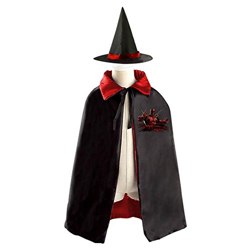 Dead Space Cosplay Costume - Dead-Pool Children Kids Halloween Cape Cosplay Party Costume Cloak Cape Witch Hat