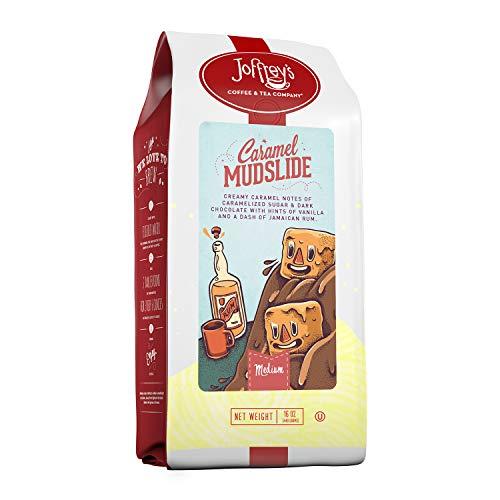 Joffrey's Coffee – Caramel Mudslide, Flavored Coffee, Artisan Medium Roast, Arabica Coffee Beans, Caramel, Dark…