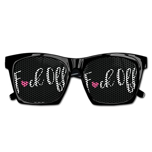 Slight Fligh Unisex Sunglasses Fuck Off Funny Custom Classic Sun Glasses for Outdoor Sports/Fishing/Party ()