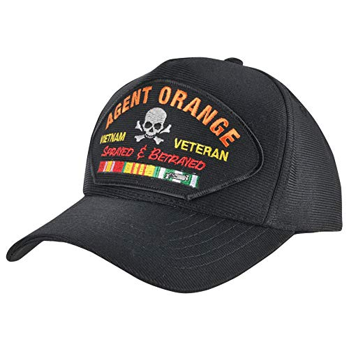 Medals of America Agent Orange Sprayed and Betrayed USA Made Hat Black L/XL