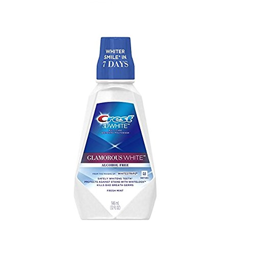 - Crest 3D White Mouthwash, Fresh Mint Flavor, 32 Oz