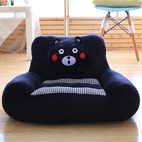 WAYERTY Children's Armchair, Children Sofa Cute Cartoon Baby Small Sofa Tatami Upholstered Kid Chair Boys and Girls Birthday Gifts-Black 70x55x43cm(28x22x17inch)