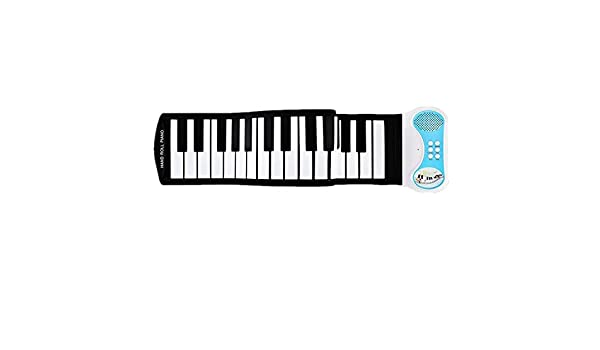 Wagyunfei Teclado USB 49 Teclas Midi Roll Up Electrónico Piano Silicona Flexible Profesional: Amazon.es: Hogar