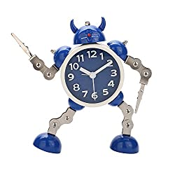 Creative Clip Robots Alarm Clock Free Twist Hands and Legs Posture