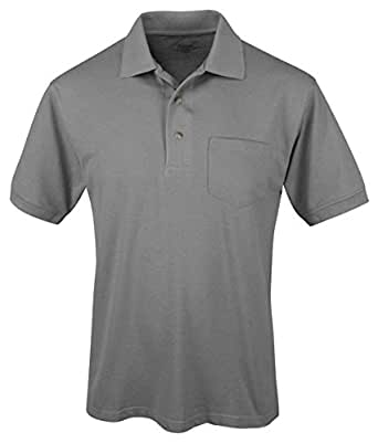 Tri-Mountain Men's Big And Tall Comfort Pique Golf Shirt, COOL GRAY, Small
