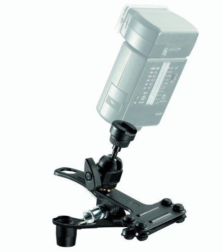 Manfrotto 175F-1 Spring Clamp with Flash Shoe - Black ()