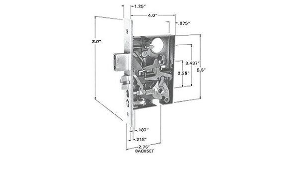 Mortise Lock Repair Diagram