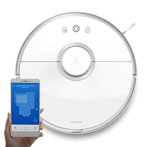 Roborock S5 Smart Robotic Vacuum Cleaner with APP Remote Control, 2000Pa  Strong Suction System, Good for Pet Hair, Hard Floors and Carpets
