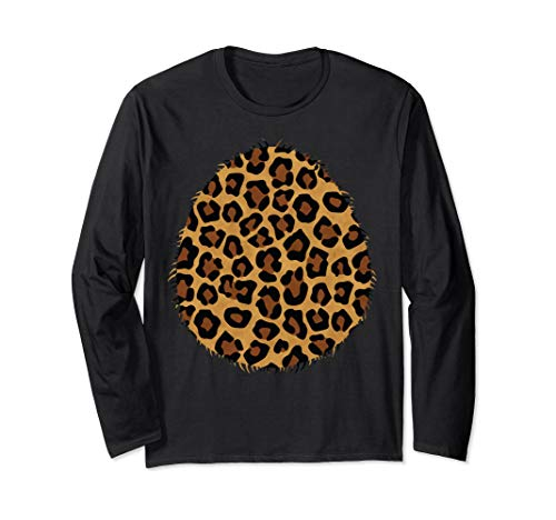 Halloween Leopard & Tiger Costume Belly Long Sleeve Shirt