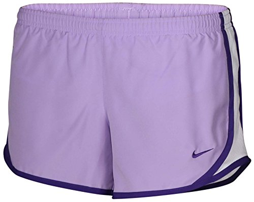 Price comparison product image Nike Big Girls' (7-16) Dri-Fit 2-in-1 Tempo Track Running Shorts-Lavender/White-Small
