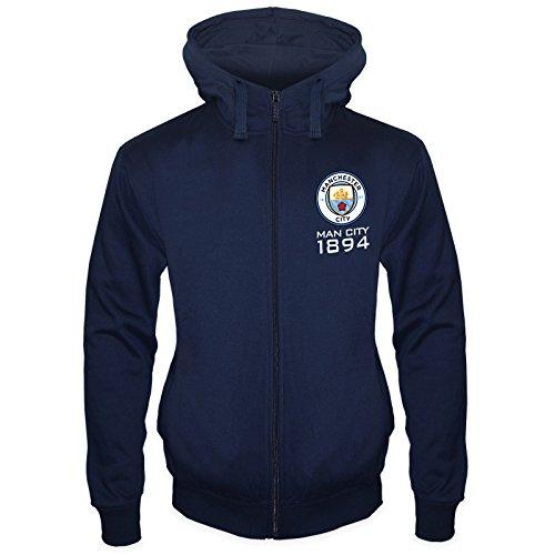Manchester City FC Official Soccer Gift Mens Fleece Zip Hoody
