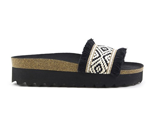 Colors Sandales noir noir of pour california femme SqSvr