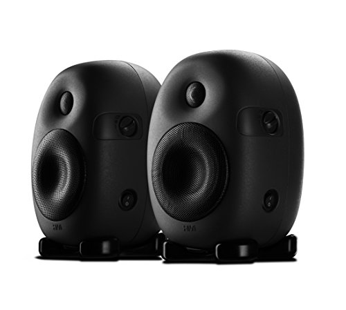 Swan Speakers - X4 - 2.0 Professional Active Studio Monitors - Designed for Audio Engineers and Music Producers - 55Hz to 20kHz Flat Response - Ovoid Cabinet Minimizes Distortions - XLR input