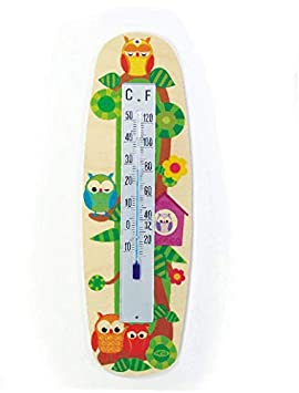 Hess Jouet en bois 30502–Porte-manteau en bois avec miroir, motif chouettes, env. 37x 35cm IDEN Grosshandelshaus Berlin Hess_30502