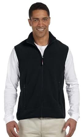 Chestnut Hill CH960 Polartec® Colorblock Fleece Full-Zip Vest - BLACK/BLACK - X-Small