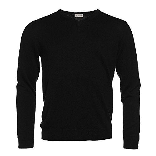 Chandail Avec Allbow Coton V Homme Aux Patches Col Elégant Coudes Gris Tricot Noir vPYqvr