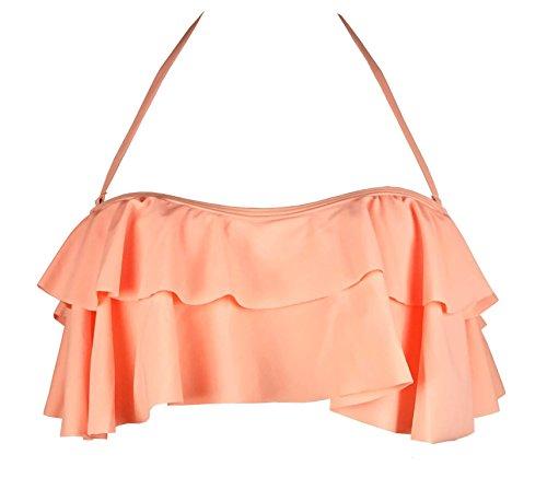 Woman Halter Bikini Swimsuit(Pink) - 8