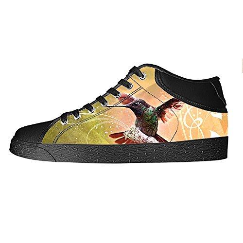 Custom Hummingbird Womens Canvas shoes I lacci delle scarpe scarpe scarpe da ginnastica Alto tetto