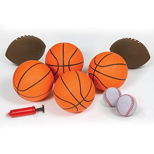 41QLHbgDFdL - EastPoint Sports 3-in-1 Shoot, Pitch, Pass Sports Gaming Center Station for Kids