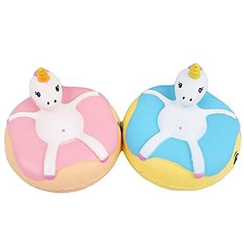 8f7e0a3d879 Amazon.com   Sanqi Elan Unicorn Donut Squishy 9.57CM Slow Rising ...