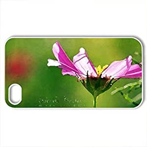 it's a little miracle.. - Case Cover for iPhone 4 and 4s (Flowers Series, Watercolor style, White)