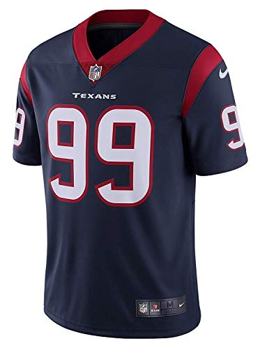 NIKE Men's Houston Texans JJ Watt #99 Limited On Field Football Jersey Marine/Gym Red 850898-462 (X-Large)