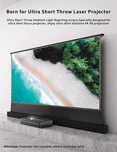 VIVIDSTORM S PRO Ultra Short Throw Laser Projector Screen TV Home Theater Projector 8K//3D//UHD White Housing Motorized Floor Rising Screen 100 inch Ambient Light Rejecting Screen VWSDSTUST100H