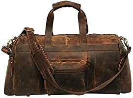 The Leather Artist genuine leather duffel bag