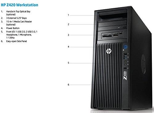 HP Z420 4K Gaming Computer- Quad Core Xeon CPU upto 3 8GHz CPU- 16GB DDR3  RAM- New 500GB SSD & New 1TB HDD- GT730 4GB Graphics Card- Windows 10 Pro-