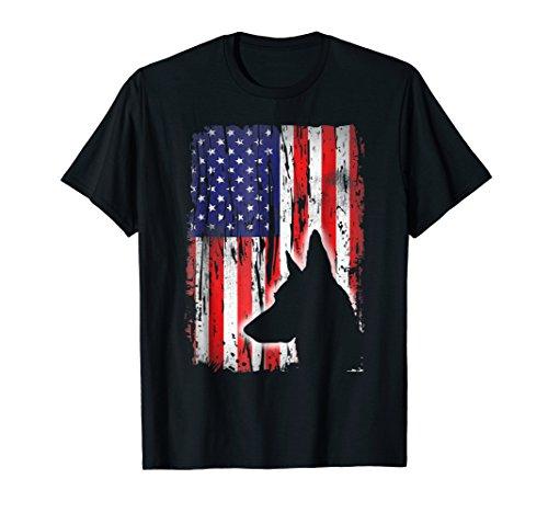 Belgian Malinois American Flag Shirt USA Patriotic Dog Gift