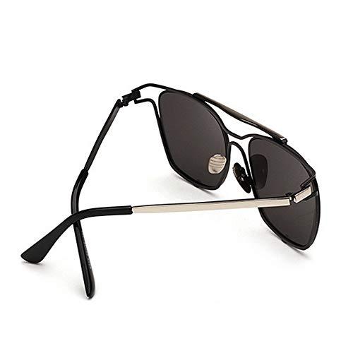 la Soleil Nuances Argent Couleur d'été Plage Lunettes KOMEISHO Brillants Couleur Conduite Protection UV400 Argent Unisexe de Designer nouveauté métallique lentille Élégant Vacances dB8SAq